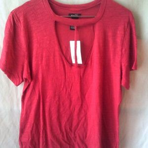 Ladies low cut shirt by Rue21, size S or M